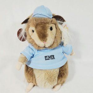 Vintage 1993 Cuddle Wit Elmer the Hamster Plush with Tags 90s Toy